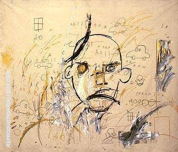 Aaron I 1981 By Jean-Michel-Basquiat Replica Paintings on Canvas - Reproduction Gallery