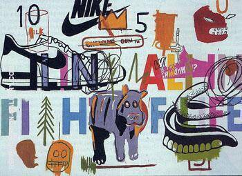 Aging Ali in Fight of Life By Jean-Michel-Basquiat Replica Paintings on Canvas - Reproduction Gallery
