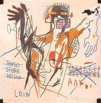 A Next Loin andlor 1982 By Jean-Michel-Basquiat Replica Paintings on Canvas - Reproduction Gallery