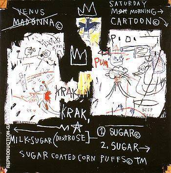 A Panel of Experts 1982 By Jean-Michel-Basquiat Replica Paintings on Canvas - Reproduction Gallery