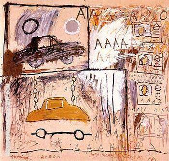 Cadillac Moon 1981 Painting By Jean-Michel-Basquiat - Reproduction Gallery