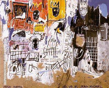 Crowns Peso Neto 1981 By Jean-Michel-Basquiat Replica Paintings on Canvas - Reproduction Gallery