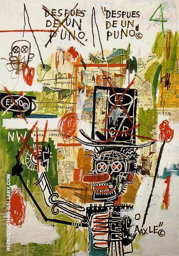 Despues de un Puno 1987 By Jean-Michel-Basquiat Replica Paintings on Canvas - Reproduction Gallery