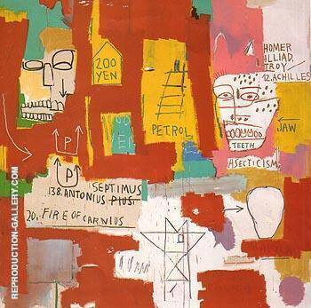 Dos Cabezas 1983 By Jean-Michel-Basquiat Replica Paintings on Canvas - Reproduction Gallery