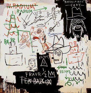 Future Sciences Versus the Man 1982 By Jean-Michel-Basquiat Replica Paintings on Canvas - Reproduction Gallery