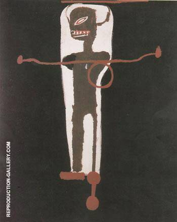Gir Gir 1986 By Jean-Michel-Basquiat Replica Paintings on Canvas - Reproduction Gallery