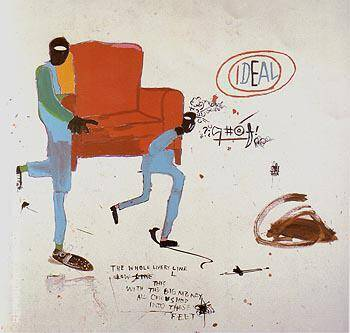 Light Blue Movers 1987 By Jean-Michel-Basquiat Replica Paintings on Canvas - Reproduction Gallery