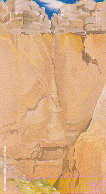 Part of The Cliff 1946 By Georgia O'Keeffe Replica Paintings on Canvas - Reproduction Gallery