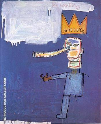 Mr Greedy 1986 By Jean-Michel-Basquiat Replica Paintings on Canvas - Reproduction Gallery