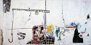 Revised Undiscovered Genius of the Mississippi Delta By Jean-Michel-Basquiat Replica Paintings on Canvas - Reproduction Gallery