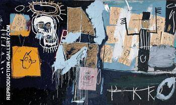 Reproduction of Slave Auction 1982 by Jean-Michel-Basquiat | Oil Painting Replica On CanvasReproduction Gallery