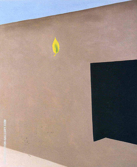 Patio Door With Green Leaf 1956 By Georgia O'Keeffe - Oil Paintings & Art Reproductions - Reproduction Gallery