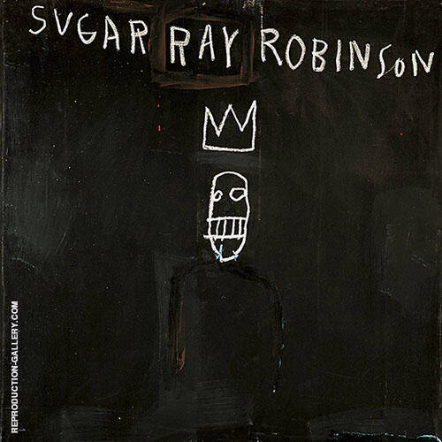 Sugar Ray Robinson Painting By Jean-Michel-Basquiat - Reproduction Gallery