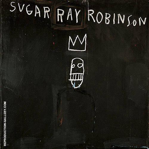Sugar Ray Robinson By Jean-Michel-Basquiat