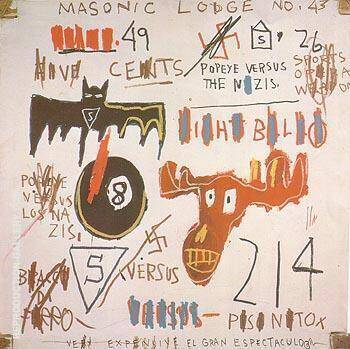 Television and Cruelty to Animals 1983 By Jean-Michel-Basquiat Replica Paintings on Canvas - Reproduction Gallery