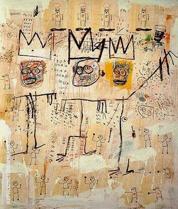 The Ruffians 1982 Painting By Jean-Michel-Basquiat - Reproduction Gallery