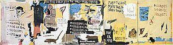 Undiscovered Genius of the Mississippi Delta 1983 By Jean-Michel-Basquiat Replica Paintings on Canvas - Reproduction Gallery