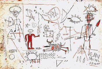 Untitled 1981 4 By Jean-Michel-Basquiat Replica Paintings on Canvas - Reproduction Gallery