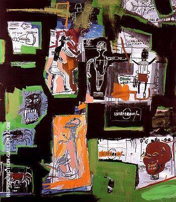 Untitled 1984 7 By Jean-Michel-Basquiat Replica Paintings on Canvas - Reproduction Gallery