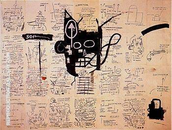 Reproduction of Untitled 1982 10 by Jean-Michel-Basquiat | Oil Painting Replica On CanvasReproduction Gallery