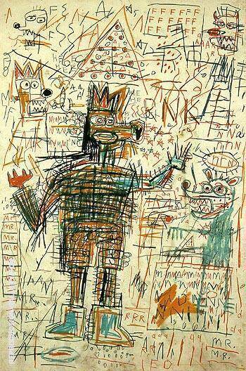 Untitled 1982 11 By Jean-Michel-Basquiat Replica Paintings on Canvas - Reproduction Gallery