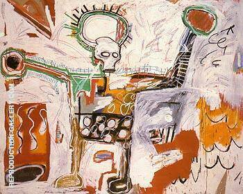 Untitled 1982 12 By Jean-Michel-Basquiat Replica Paintings on Canvas - Reproduction Gallery