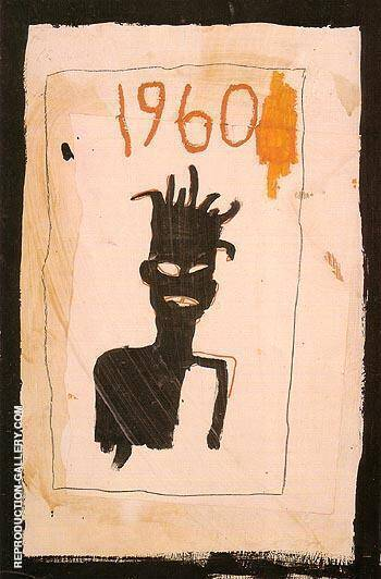 Untitled 1960 1983 By Jean-Michel-Basquiat Replica Paintings on Canvas - Reproduction Gallery