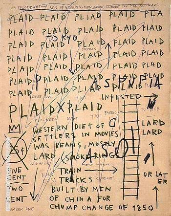 Untitled Plaid 1983 By Jean-Michel-Basquiat