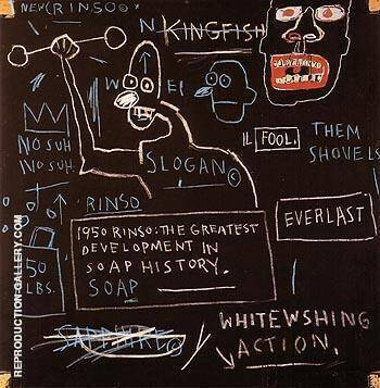 Untitled Rinso 1982 By Jean-Michel-Basquiat Replica Paintings on Canvas - Reproduction Gallery