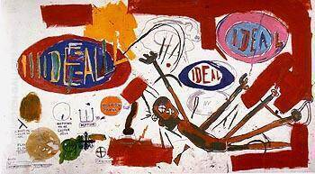 Victor 25448 1987 Painting By Jean-Michel-Basquiat - Reproduction Gallery