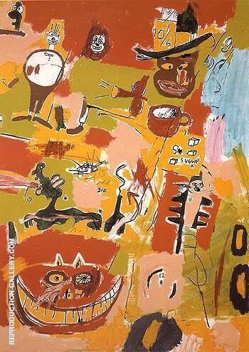 Wine of Babylon 1984 By Jean-Michel-Basquiat Replica Paintings on Canvas - Reproduction Gallery