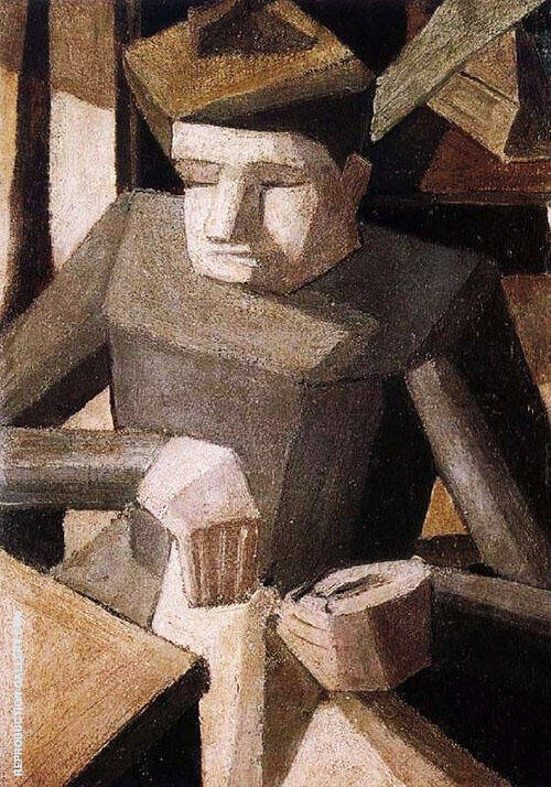 Woman Sewing c1909 By Fernand Leger