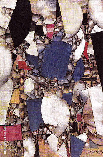 Reproduction of Woman in Blue 1912 by Fernand Leger | Oil Painting Replica On CanvasReproduction Gallery
