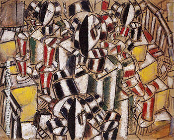 The Staircase 1914 By Fernand Leger