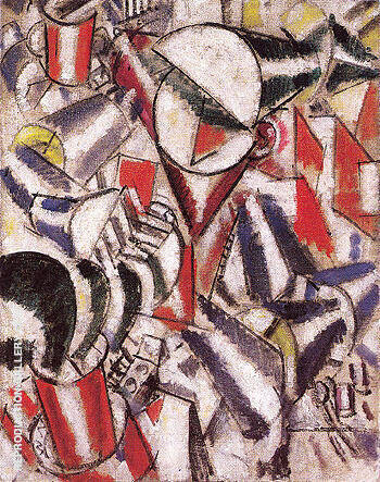 Woman Sewing 1914 By Fernand Leger
