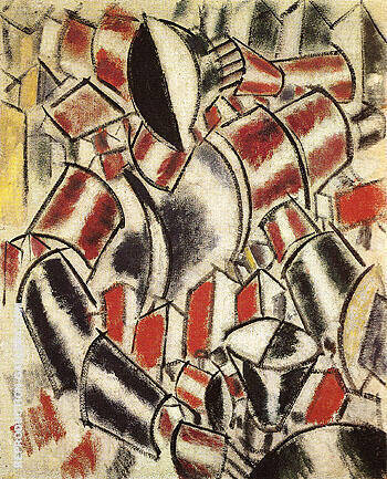 Woman Before a Table 1914 By Fernand Leger