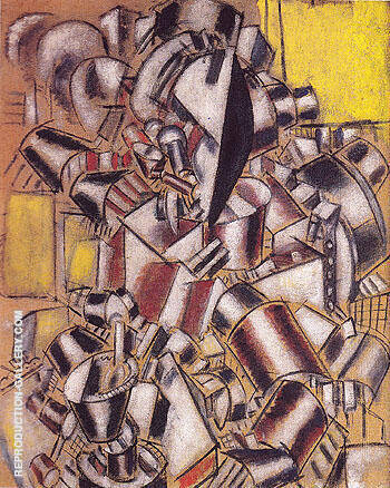 The Smoker 1914 By Fernand Leger Replica Paintings on Canvas - Reproduction Gallery
