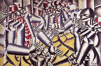 The Card Game 1917 Painting By Fernand Leger - Reproduction Gallery