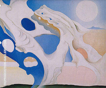 Pelvis With Shadows And The Moon 1943 By Georgia O'Keeffe - Oil Paintings & Art Reproductions - Reproduction Gallery