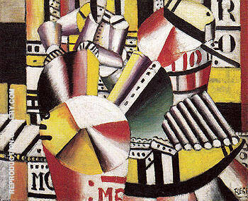 Bargeman 1918 By Fernand Leger - Oil Paintings & Art Reproductions - Reproduction Gallery