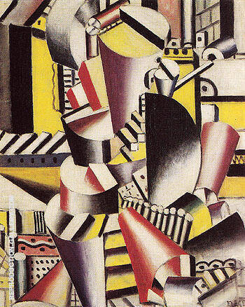 The Wooden Pipe 1918 By Fernand Leger