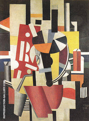 The Typographer 1918 Painting By Fernand Leger - Reproduction Gallery