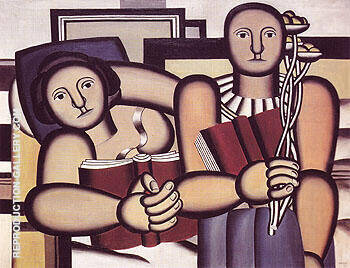 Reading 1924 By Fernand Leger