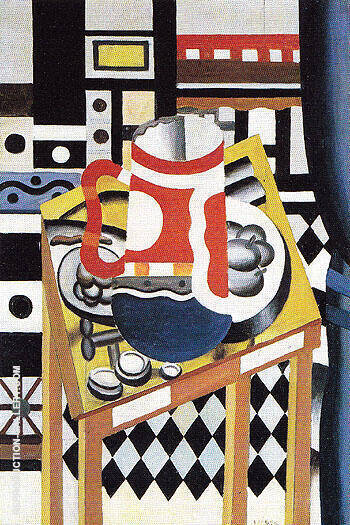 Still Life with a Beer Mug c1921 Painting By Fernand Leger