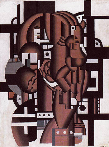 Composition c1923 Painting By Fernand Leger - Reproduction Gallery