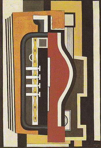 The Accordion 1926 By Fernand Leger - Oil Paintings & Art Reproductions - Reproduction Gallery