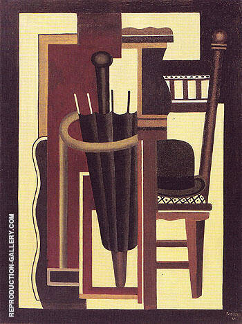 Umbrella and Bowler 1926 By Fernand Leger