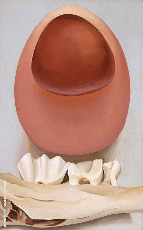 Reproduction of Red and Pink Rocks and Teeth 1938 by Georgia O'Keeffe | Oil Painting Replica On CanvasReproduction Gallery