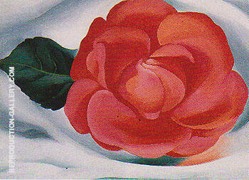 Reproduction of Red Camellia 1935 by Georgia O'Keeffe | Oil Painting Replica On CanvasReproduction Gallery
