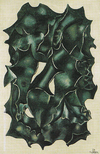 Holly Leaves 1930 By Fernand Leger Replica Paintings on Canvas - Reproduction Gallery